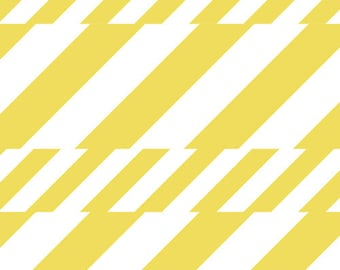 Art Gallery CANVAS fabric by the Half-Yard or Full Yard - Soda Straws in Canvas - Boardwalk Delight Collection - Yellow