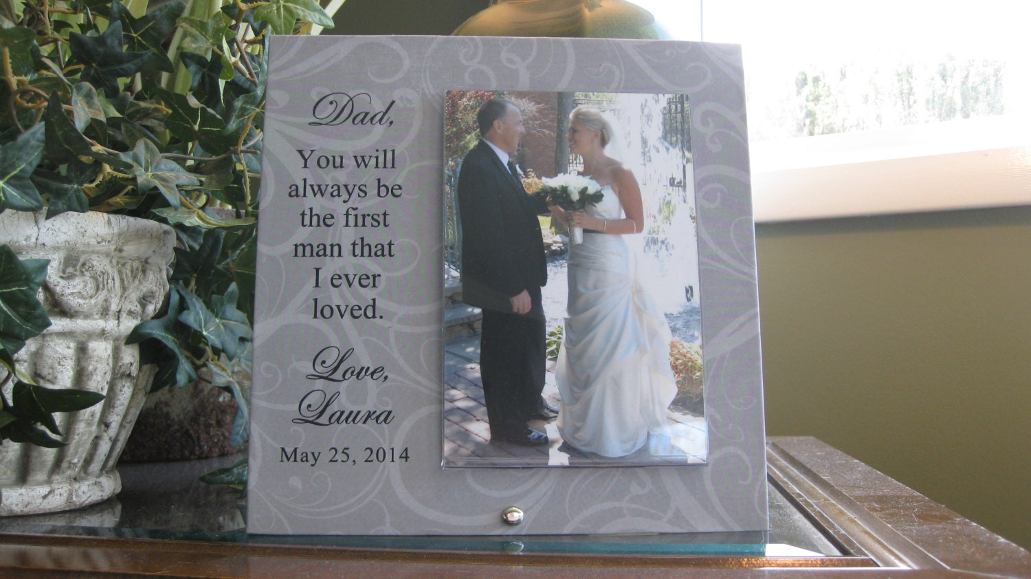FATHER Of BRIDE Picture Frame Father Daughter Frame Father