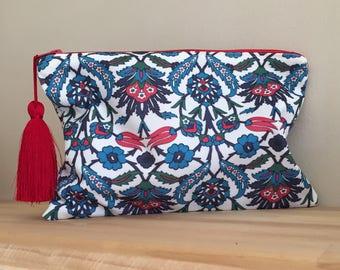 Tile Pattern CLUTCH/Clutch Bag/Tiles Print Clutch/Clutch Purse/HANDBAG/Ipad Case/Ethnic Clutch/Turkish TILE Design Clutch/Gift For Her