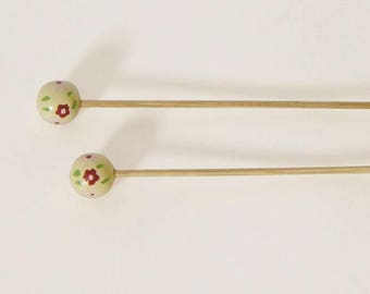 Handcrafted 2.5 bamboo knitting needles