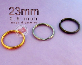 Key Rings 100 pieces 23mm split rings / key rings (available in antique brass finish)