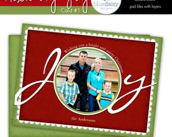 5x7 Holiday Joy Photo Card - Photographer Template (Card 1)