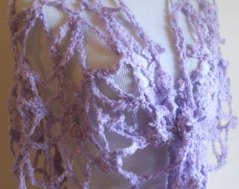 Large Lavender Crochet Lacey Shawl, Lavender Crochet Wrap, Purple Crochet Shawl, Purple Crochet Wrap, Women Christmas Gift, Crochet Gift