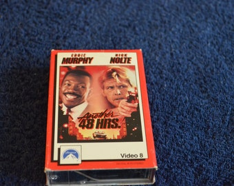 Video 8, Another 48 Hours, Staring Eddie Murphy and Nick Nolte, 8 mm movie tape