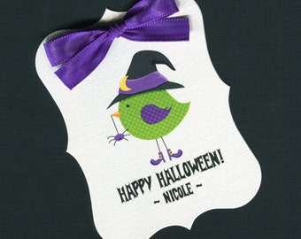 Halloween Tags - Halloween Favor Tags - Personalized - Gift Tags - Candy Tags - Cookie Tags - Treat Bag Tags - Set of 25
