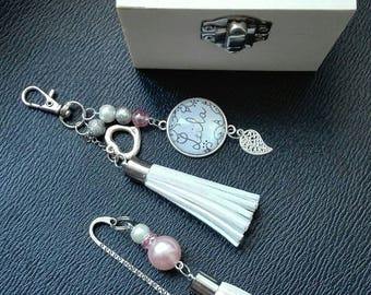 Bohemian bookmark with customizable Keychain Gift Pack