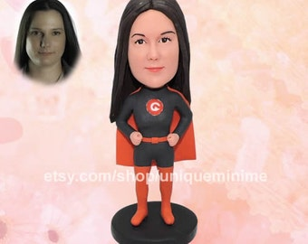 One year anniversary gift for her or for him - 1st   anniversary gift - 1 year anniversary paper gift -   Custom Bobblehead dolls