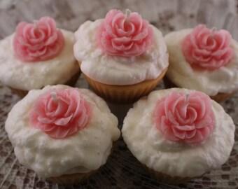 Cupcake Votive 5 Pack, Cupcake Wedding Favors, Cupcake Party Favors, Shower Favors, Tarts