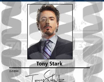 Badge replica Tony Stark