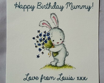Personalised Handmade Mummys Birthday Card