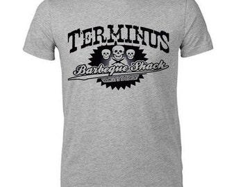 The Walking Dead Terminus BBQ Shack T Shirt NEW