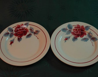 Set of 2 plates loups-Hamage Moulin