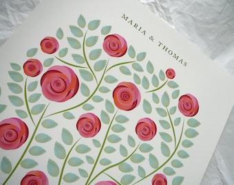 Wedding Guest book alternative - Roses