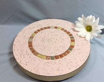 Retro Pink Mosaic Tile Trivet