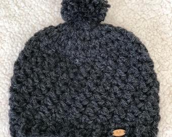 Kids crochet beanie
