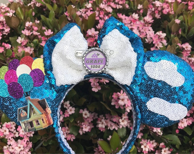 Adventure is out there Up Sequin Minnie ears