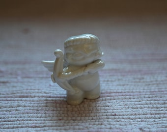 White porcelain angel. Valentine's Day gift