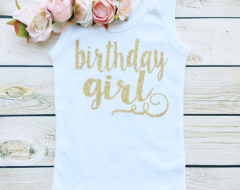 sweet sprouts girls gold glitter one birthday girl 1st 2nd 3rd birthday party shirt tank