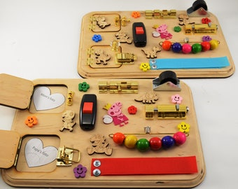 1 piece Toy for travel Sensory board Wooden busy toys Mini activity board Travel busy board Montessori Toy for autism Gift 1st Baby gifts