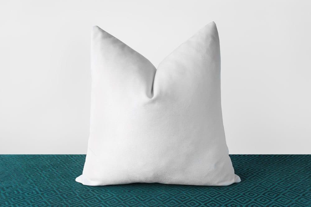 White Velvet Pillow Cover Solid White Throw Pillows White