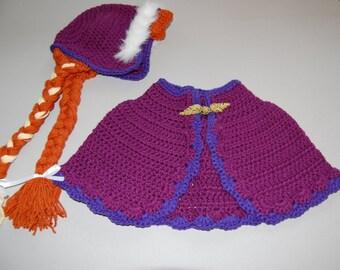Ice Princess Bonnet & Cape