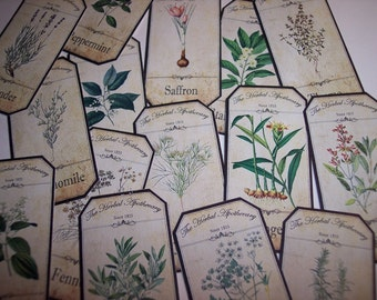 Herbal  Apothecary Labels Set of 15 set no. 1