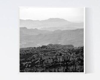 Mountains Print Wanderlust art Minimalist mountain prints Modern nordic art Printables black and white photography Monochrome scandinavian