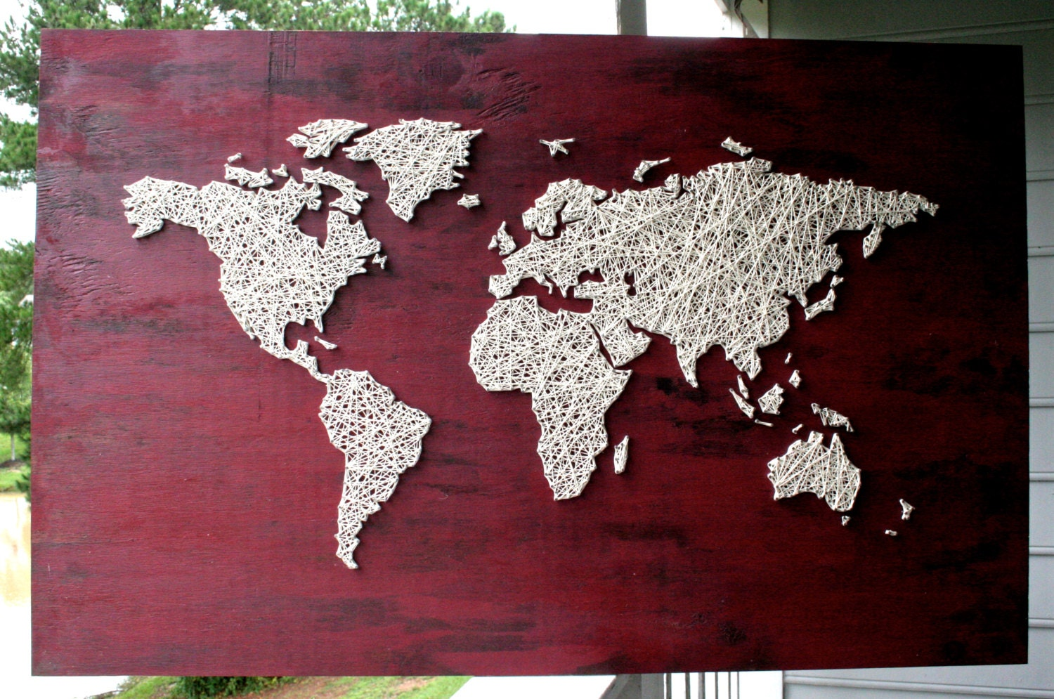 World map string art barn red world map travel map zoom gumiabroncs Gallery