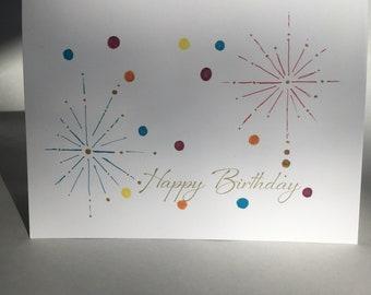 Sparkler Birthday Card - Pack of 5