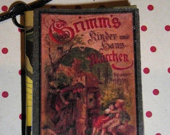 Necklace book Grimm's fairy tales (Book necklace)