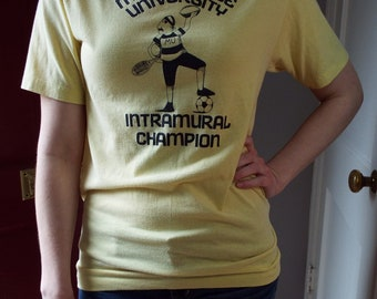 Vintage Yellow Millersville University T Shirt