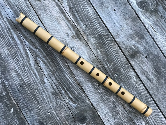 1.8 Shakuhachi Flute ~ key of D ~ Meditation model, Bindings