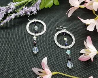 Swarovski Earrings/Silver Jewelry/Swarovski Crystals/Elegant Earrings/Classy Earrings/Handmade Jewelry/Unique