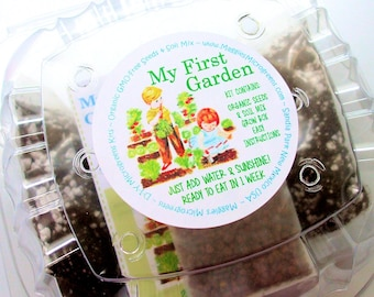 "Children's ""Garden in a Box"" Kit - DIY Microgreens Complete Kit for Kids Indoor Gardening"