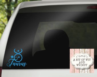Zodiac Signs / Gifts Taurus Zodiac / Taurus / Vinyl Decal / Car Decal / Laptop Decal / Mirror Decal /Tumbler Decal / Astrology