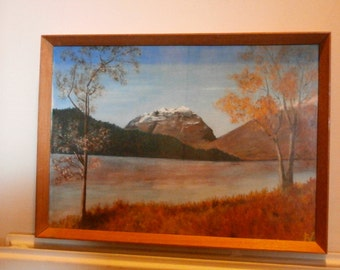 "Original Vintage Scottish Oil Painting ""Prelude to Winter"" by H C Wilson"