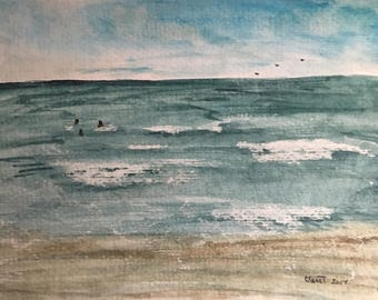 Original Plein Air Watercolor Seascape