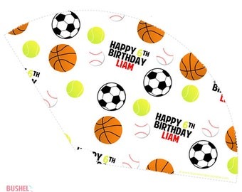 Sports Party Cones - PRINT & SHIP or DIGITAL