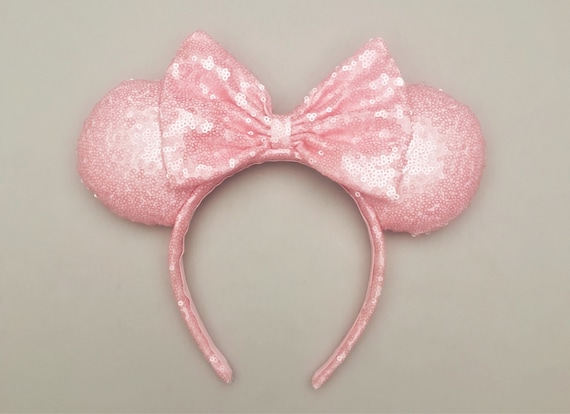 Millennial Pink Disney Inspired Ears, Pink Minnie Ears by Etsy