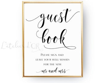 guest book sign printable wedding sign reception sign template instant download pdf