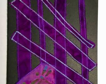 Custom notebook - purple dragonflies