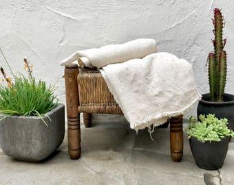 Authentic Plain African Mudcloth Fabric, Ecru Mud cloth fabric, natural mudcloth throw mudcloth textile 40