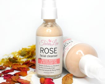 Rose Face Wash, Rose Facial Cleanser, Sensitive Face Wash, Natural Face Wash, Gentle, Best Face Wash, Rose Clay Wash