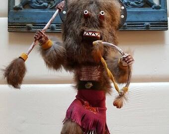 """Kachina Doll """"Buffalo Warrior"""""""