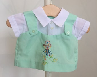 Vintage Baby Embroidered Clown Shirt