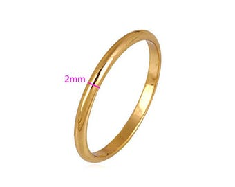 Simple Dainty 18k Color Gold Band
