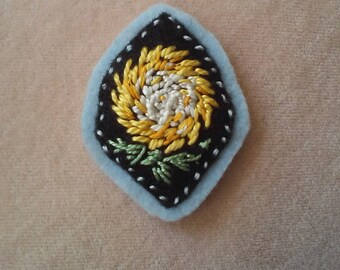 Yellow Chrysanthemum (Patch, Pin, Brooch, or Magnet)