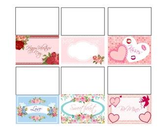 Printable Valentines Mini Cards, Love Card, Cute Cards for Valentines, Valentines Printables,