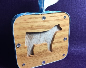 Show Cattle Christmas Ornament