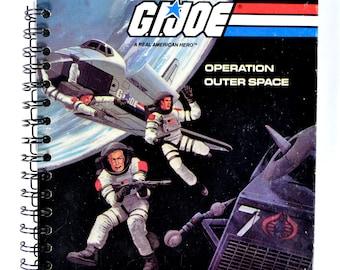 """Sale! Journal Notebook Sketchbook Vintage Recycled Repurposed """"G.I. Joe"""" Was 15, now 12"""